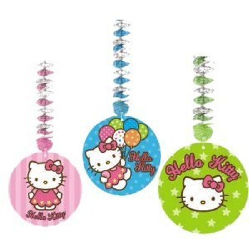 Hello Kitty Hanging Decorations 3 99 Abc Party Supplies Your