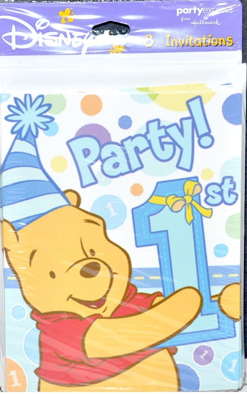 Winnie the pooh boys 1st abc party supplies your one stop winnie the pooh boy 1st birthday invitations 8ct filmwisefo